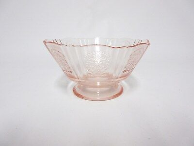 Pink American Sweetheart Footed Sherbet / MacBeth - Evans Glass Co