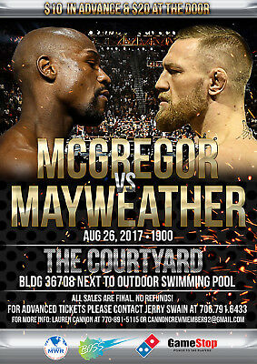 FLOYD MAYWEATHER v CONOR McGREGOR BOXING 31 POSTER PHOTO PRINT