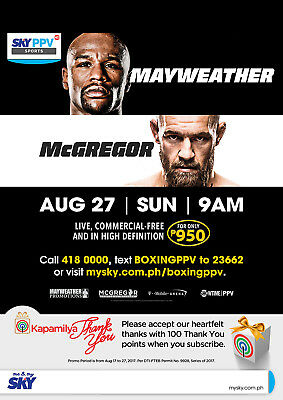FLOYD MAYWEATHER v CONOR McGREGOR BOXING 29 POSTER PHOTO PRINT