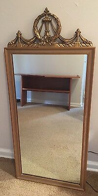Vintage Antique Gold Gilded Wood Wall Decorative  Mirror