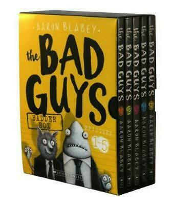 Bad Guys Badder Box Episodes 1-5 by Blabey, Aaron Paperback Book Free Shipping!