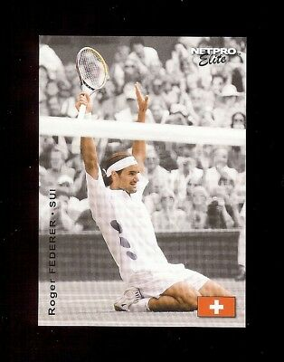100) ROGER FEDERER (white) 2003 NetPro ELITE Tennis LOT