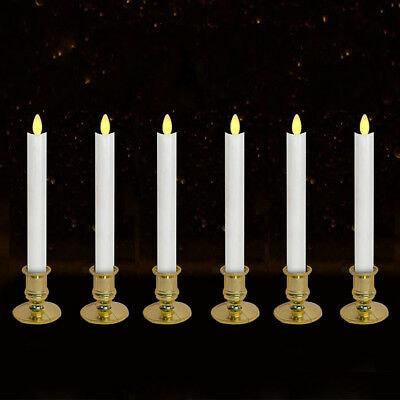 2/6pcs Electric LED Candles Flickering Flameless Battery Candle Light + Remote