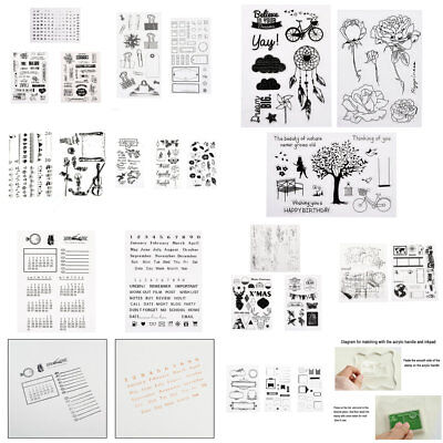 Handmade Transparent Scrapbook Clear Stamp Pad Card DIY Tool Acrylic Block Craft