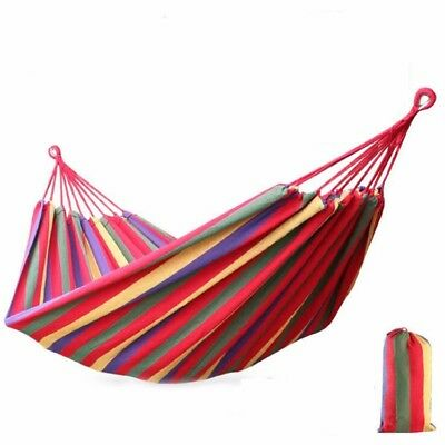200KG Outdoor Travel Camping Fabric Double Person Hammock With Straps