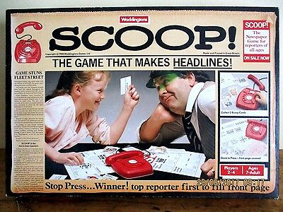 ~Scoop-The Game That Makes Headlines-Vintage Newspaper/reporters Game-Complete~