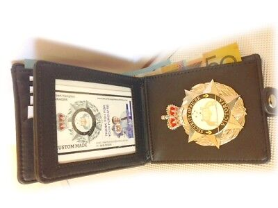 Executive Badge Wallet  - 2 Cash Sections - Our Badge not Included Fast Post