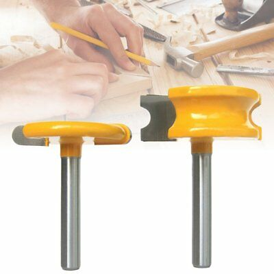 2pcs 1/4'' Shank 1/4'' Dia Canoe Flute  Bead Router Bits Set For Woodworking TOP