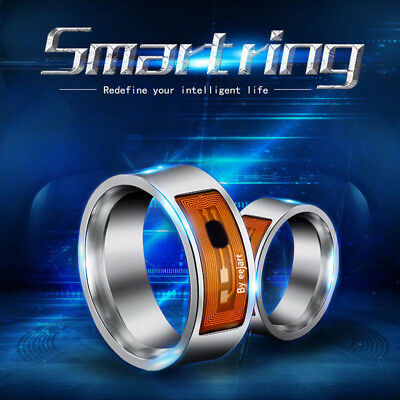 NFC Stainless steel Smart Magic Black Ring Wearable For HTC LG Huawei Android