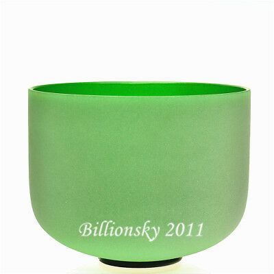 Green F Heart Chakra Frosted Quartz Crystal Singing Bowl 12 inch