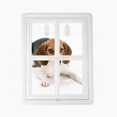 Magnetic Automatic Lock Lockable Dog Cat Pet Flap Safe Door Gate Way
