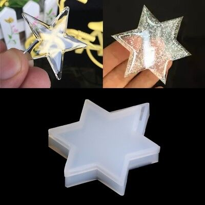 Transparent Silicone Pendant Mould Star Resin Jewelry Making Tool Fondant Cake
