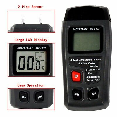 Portable LCD Digital Wood Timber Moisture Content Meter Detector Tester New