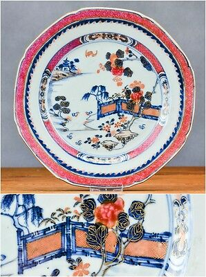 18C Qianlong Chinese Porcelain Plate 'Famille Rose' Lobbed No Hairlines