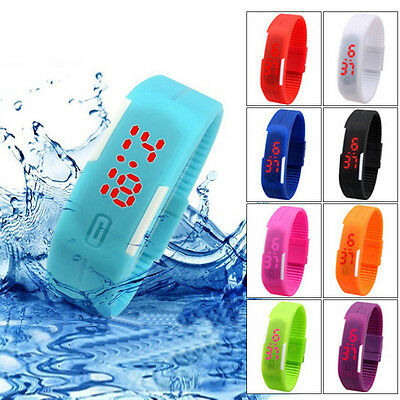 Waterproof Touch Screen LED Cute Watch Digital Wristwatch For Ladies Child Kids