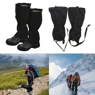 1 Pair Waterproof Outdoor Hiking Walking Climbing Hunting Snow Legging Gaiters
