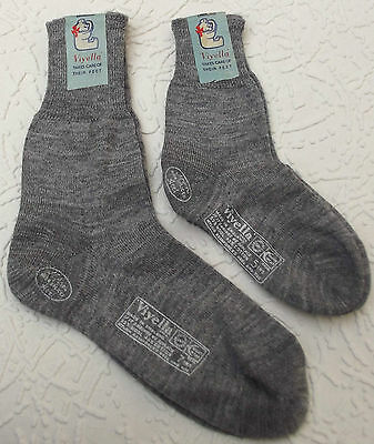 Vintage socks Pre-school UNUSED boy girl 1950s VIYELLA short plain knit GREY