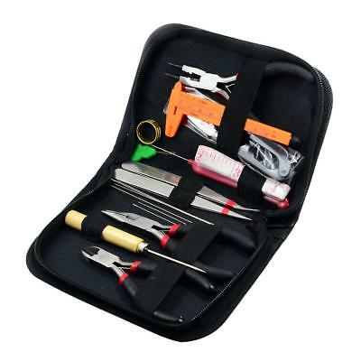 19pcs Jewelry Making Starter Beading Tools Kit With Case Repair Hobby Crafts