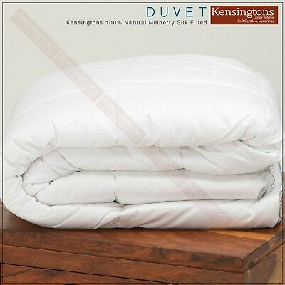 100% Pure Mulberry Silk Filled King Size Duvet Luxury Hotel Quality All Togs