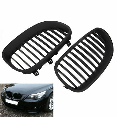 2x Black Front Wide Bumper Kidney Grilles Grill For BMW E60 E61 M5 5Series 03-09