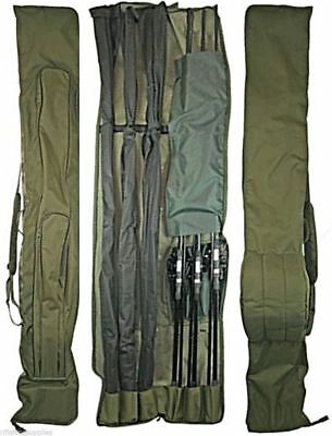 3+3 DELUXE ROD AND REEL HOLDALL BAG 12ft RODS CARP FISHING ROD BAG 618