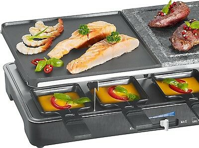 Clatronic 2 in 1 Raclette-Grill RG 3518 Tisch Grill