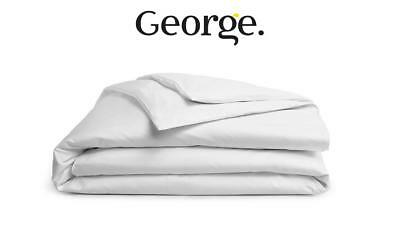 George Home Junior Cotton Percale Luxury Cot Bed Duvet 4 Tog Toddlers Bedding