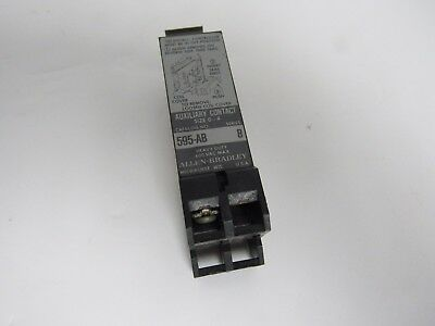 Allen Bradley Auxiliary Contact 595-Ab Ser B