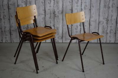 Vintage Mid Century Stacking Stackable Cafe Bar Kitchen Dining Chairs