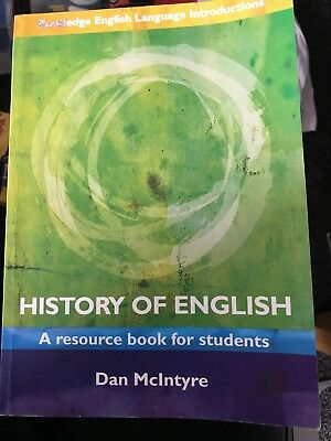 History of English: A Resource Book for Students by Dan McIntyre (Paperback,...