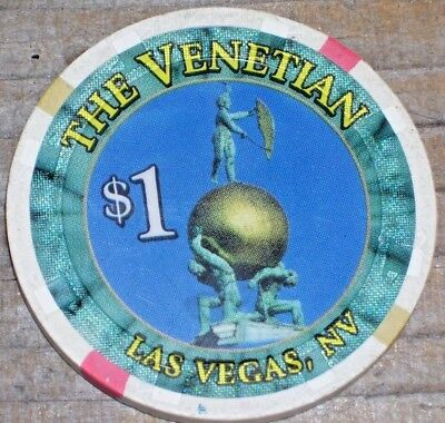 $1 1St Edition Gaming Chip From The Venetian Casino, Las Vegas