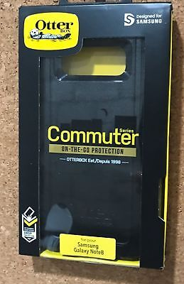 NEW OtterBox COMMUTER Case For Samsung Galaxy NOTE 8 - BLACK 77-55917