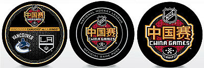 2017 NHL China Games 3 Hockey Puck Los Angeles Kings vs Vancouver Canucks