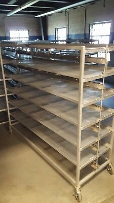 Commercial Stainless Steel Rolling Carts - NO REASONABLE OFFER REFUSED!