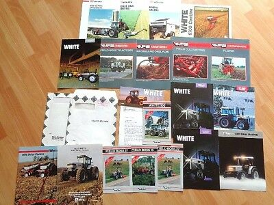 20 Older White Tractor Equipment Brochures In Two Original Promo Mailers **
