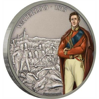 BATTLE OF WATERLOO - BATTLES THAT CHANGED HISTORY - 2017 1 oz Fine Silver Coin