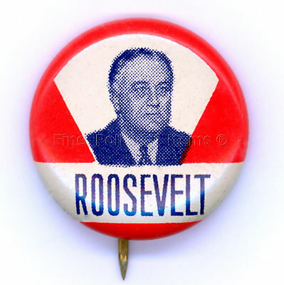 "* Wonderful ~ "" FRANKLIN D. ROOSEVELT "" ~ 1936 Campaign Button"