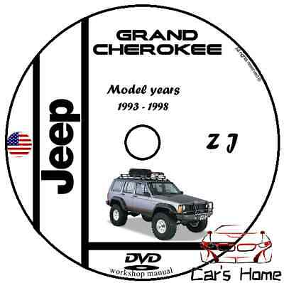 MANUALE OFFICINA JEEP GRAND CHEROKEE I SERIES ZJ my 93-98 WORKSHOP MANUAL DVD