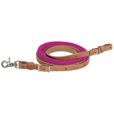 """Weaver Leather Suede Covered Barrel Rein 5/8"""" x 8' Hot Pink"""