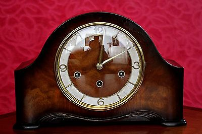 Vintage Art Deco German 'Schatz & Son W3' Mantel Clock with 3 Melodies Chimes