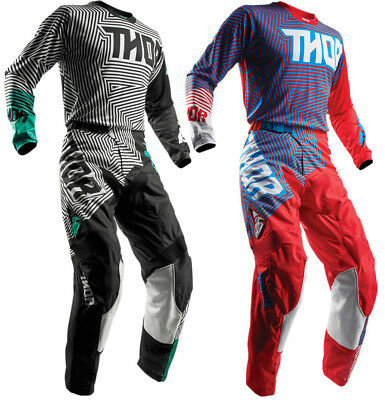 Thor Mens & Youth Pulse Geotec Dirt Bike Jersey & Pants Kit MX ATV Offroad 2018