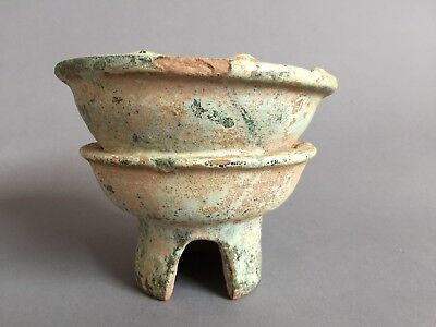 Ancient Chinese Han Dynasty Pottery Cooking bowl and stove 100 BC