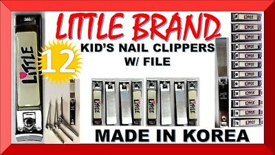 12X LITTLE Deluxe Nail Clippers INFANT TODLER KID'S, BABY, CHILD (MADE IN KOREA)