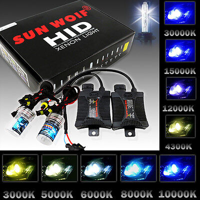55W HID XENON Headlight Conversion Kit Slim Ballasts H1 H3 H4 H7 H9 H11 9006 HB2