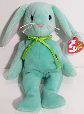 """TY Beanie Babies """"HIPPITY"""" Mint Green EASTER Bunny RABBIT - MWMTs! RETIRED! GIFT"""