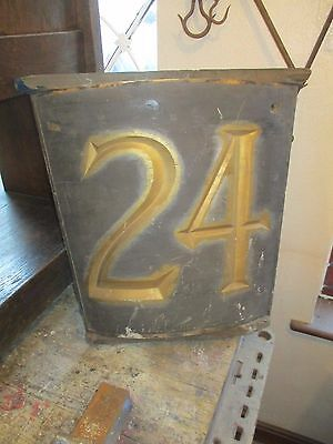 "24 Victorian Number Sign Hand carved wooden 21"" x 22"" x 7"""
