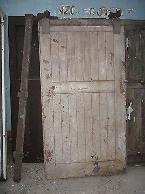 """Large Industrial chic sliding door /partition with runner and wheels 41""""x78""""x2+"""""""