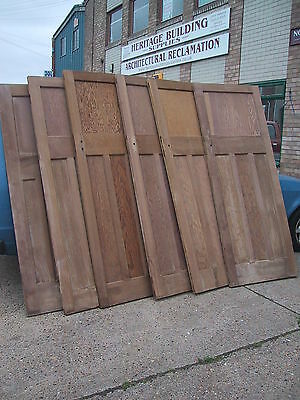 Original old vintage art deco 1930's 4 four panel pine wooden door doors