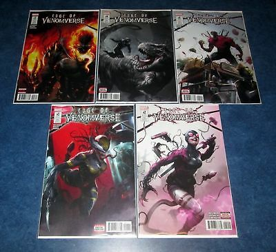 VENOM EDGE OF VENOMVERSE #1 2 3 4 5 1st print set MARVEL gwenpool deadpool NM