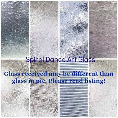 "CLEAR TEXTURED Glass Variety (6"" x 8"") Pack 8 Sheets Stained Glass Supplies"